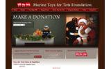アメリカ海兵隊、避難所の子供たちにおもちゃ1500個を贈るの画像