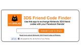Facebookで簡単に3DSのフレンドコードを交換できるアプリの画像