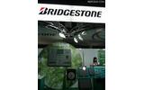 ブリヂストンの展示ブース。電子ペーパー端末のフルラインナップを展示 ブリヂストンの展示ブース。電子ペーパー端末のフルラインナップを展示の画像