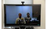 テレビ会議で参加したヘキサドライブの中山徹氏(プログラマー・画面左)の画像