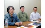 CEDEC運営委員会の面々(左から委員長の斎藤直宏氏、副委員長の庄司卓氏、鶴谷武親氏)の画像