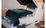 発泡プリントを膨らませるためにプレス機で熱を加えますの画像