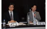 取締役会長の春田真氏(左)と代表取締役社長の守安功氏(右)の画像