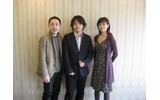 左から、サイバーコネクトツー松山洋氏、レベルファイブ日野晃博氏、ガンバリオン山倉千賀子氏の画像