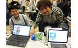 福島GameJamチームも参加し、30時間で制作したゲームを展示したの画像