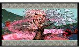 美しい桜の花びらが、闇を払いますの画像