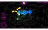 また、余計な描画を排したグラフィックのおかげで敵や障害物の位置関係が把握しやすく、そこに3Dシューティングゲームとしての説得力も生まれています。の画像
