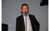 シリアスゲームプロジェクトについて語る福岡市・天本俊明氏の画像