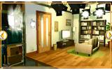 家のセット風のスタジオの画像