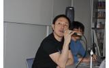 左がサイバーコネクトツー代表の松山洋氏、右が『.hack』シリーズディレクターの新里裕人氏の画像