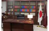 総裁室も忠実に再現の画像