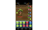 FF風戦闘画面。画面下部の色玉をタップすると攻撃します。の画像