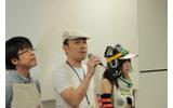 左からニイザト店長、松山氏、たっしー氏の画像