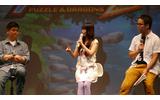 左から作曲の伊藤賢治さん、中川翔子さん、プロデューサーの山本大介氏の画像