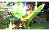 青い光をまとった刀を振るう「御剣平四郎」の画像