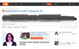 SoundCloudページショットの画像