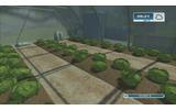 グリーンハウスでレタスの栽培。給水所から水を補充すると収穫量が増えるの画像