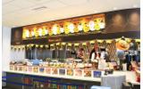左から「Bowl」、「Plate Lunch」、「Cafe」、「Noodle」コーナーが設けられていたの画像