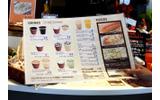 「Cafe」コーナーのメニュー。品目が豊富でリーズナブルの画像