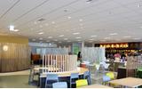 """スクエニの社員食堂は300席あり、""""ラウンジ""""の愛称で親しまれているというの画像"""