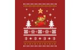 楽しいクリスマスを!欧州任天堂、マフラーのようなクリスマスアート付きメッセージをTwitterに投稿の画像