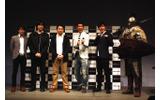 写真左から小倉氏、桜庭氏、谷村氏、麒麟・田村氏、麒麟・川島氏、鎧の騎士の画像