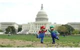オバマ来日、マリオは渡米し留守のホワイトハウスへの画像