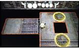 主人公の宇宙人「デルデ」を操作してエリアの宇宙船から脱出する、コミカル脱出アクションゲームの画像