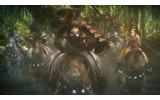 ウタカタの里へ向かって馬を駆る相馬、暦、「百鬼隊」の画像