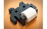 スペースインベーダー型トイレットペーパーホルダーはいかが?3Dプリンターのデータも公開中の画像
