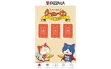 PIZZA-LA×映画「妖怪ウォッチ」、パスケースやポストカードなどオリジナルグッズ4点がセットになったピザ登場の画像