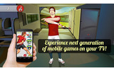 スマホをWiiリモコンのように使ってプレイするAndroidアプリ『Motion Tennis Cast』登場の画像