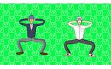 この体操は一体…アニメ「学園ハンサム」エンディング映像「ハンサム体操」が凄くグニャグニャしてるの画像