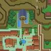 『ゼルダの伝説 時のオカリナ』をSFC風にアレンジした超巨大マップの画像