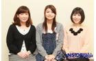 左から皆口裕子さん、早見沙織さん、丹下桜さん