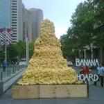 5mのバナナの塔、バナナ一房で『ドンキーコング リターンズ』プレゼント