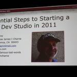 【GDC2011】自分のゲームスタジオを持つにはどうしたらいい?