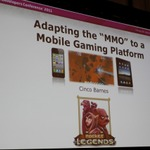 【GDC2011】本格的なMMORPGをスマートフォンで実現するための進化させるゲームデザイン