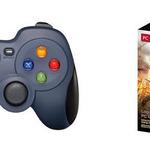 ロジクール、特典アイテムなどを同梱したモンハン推奨PC用ゲームパッドのパッケージ