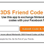 Facebookで簡単に3DSのフレンドコードを交換できるアプリ