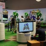 【gamescom 2011】20周年ソニック一色のセガブース、過去のグッズも展示