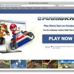 フェイスブックで『マリオカート』が遊べると騙るスパムにご注意