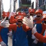 マリオファンがNYのタイムズスクウェアをジャック! 『スーパーマリオ3Dランド』発売記念イベント