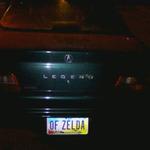 ゼルダの伝説なナンバープレート