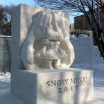 雪まつり「初音ミク」雪像、再制作が完了 ― 強度を高めた構造に