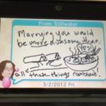 『いつの間に交換日記』で感動のプロポーズを演出