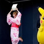 しょこたん&ピカチュウ、京都駅長に同時就任 ― ポケモン映画15周年記念