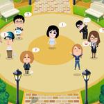 コナミとミクシィ、アバターで交流できるスマホ向けサービス『mixiパーク』サービス開始