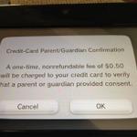 ニンテンドーネットワークID、18歳未満の子供が登録するには50セントの追加料金が必要