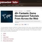 ゲーム開発チュートリアル特選、40種以上をまとめたページを紹介